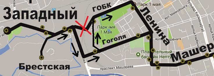 """Изменение схемы движения маршрутов экспрессного сообщения №5 и №10"""""""